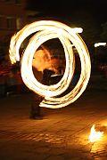 Laternenumzug in Plüderhausen mit Feuershow