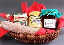 Zur Bestellung des Pr�sentkorbs mit Produkten aus der Uckermark in einem Weidenkorb