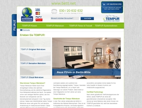bettehaus berlin tempur matratzen shop. Black Bedroom Furniture Sets. Home Design Ideas