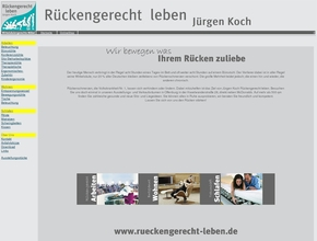 r ckengerecht leben j rgen koch. Black Bedroom Furniture Sets. Home Design Ideas