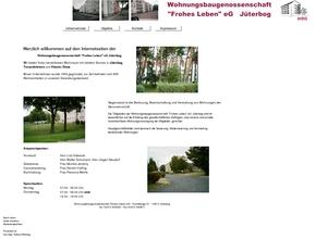 """Wohnungsbaugenossenschaft """"Frohes Leben"""" eG Jüterbog"""